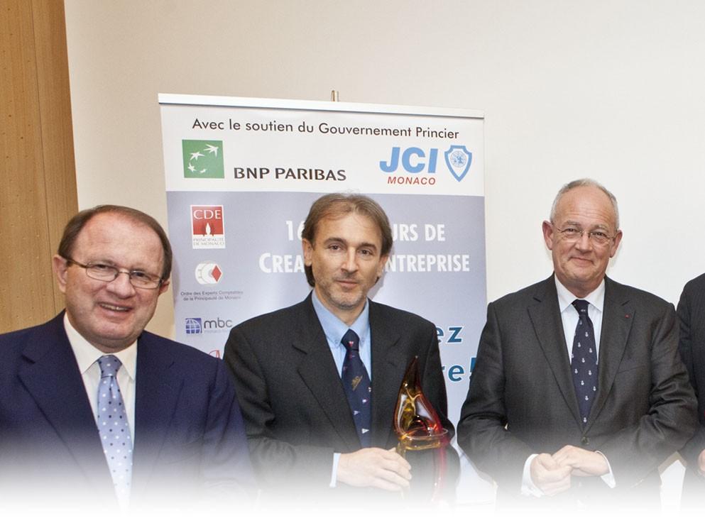 16 nov. 2011Premier prix au Concours de Création d'Entreprise de la Jeune Chambre Economique de Monaco