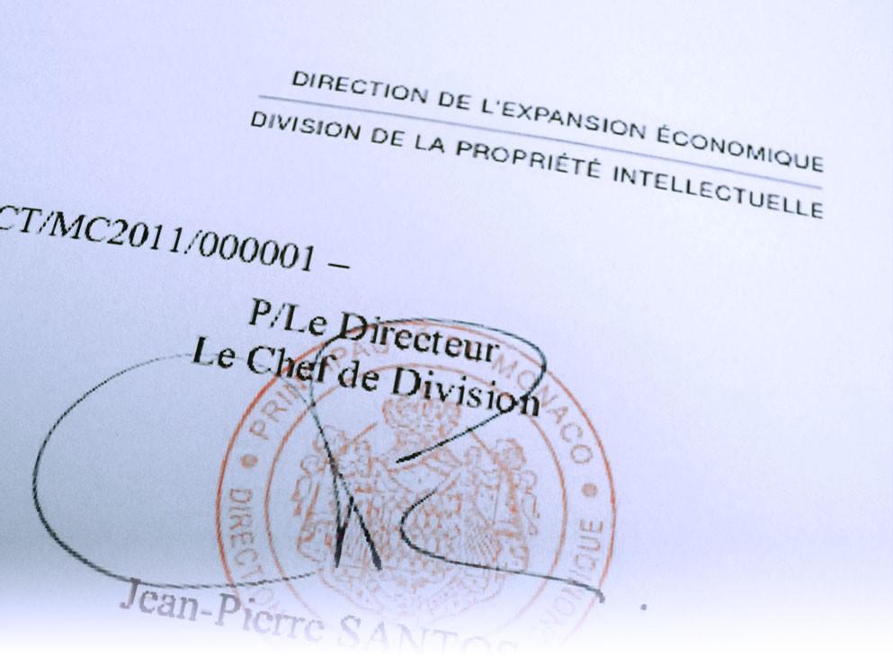 2012Dépot du premier brevet mondial à Monaco